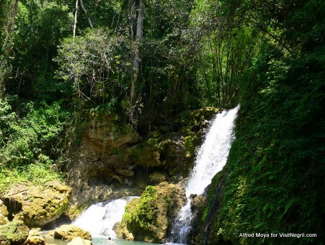 YS Falls from Negril Jamaica
